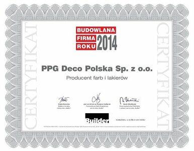 PPG laureatem Budowlanej Firmy Roku