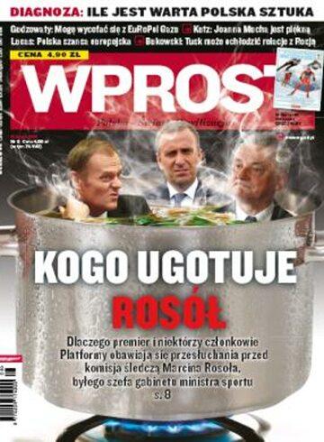 Okładka tygodnika Wprost nr 8/2010 (1412)