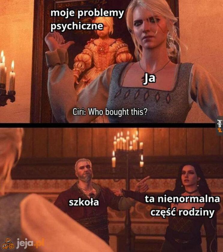 Mem inspirowany grami z serii Wiedźmin