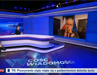 """Wpadka prowadzącego w TVP podczas wywiadu z ministrem. """"Adam..."""