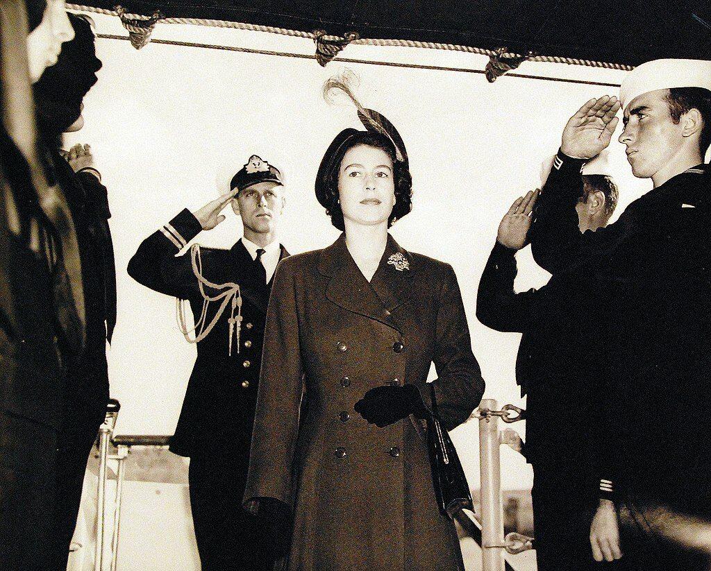 Książę Filip z Elżbietą II w 1950 roku