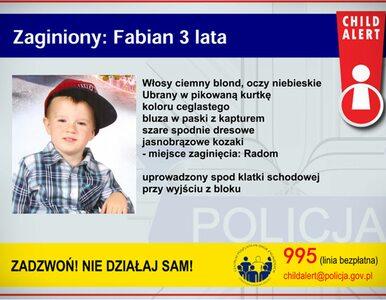 Zaginiony 3-letni Fabian. Ojciec: Fabianek jest ze mną