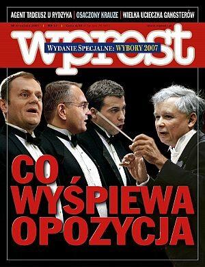 Okładka tygodnika Wprost nr 37/2007 (1290)