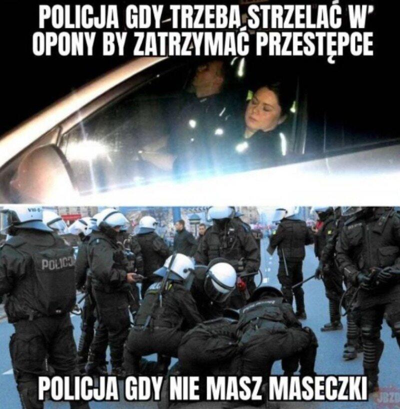 Mem po interwencji policji na stacji paliw w Rymaniu