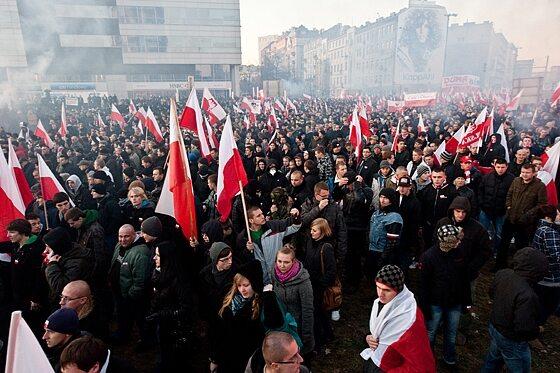 Według organizatorów w marszu wzięło udział ok. 25 tys. osób (fot. Jakub Czermiński)