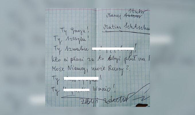 List doMacieja Stuhra