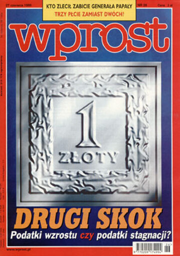 Okładka tygodnika Wprost nr 26/1999 (865)