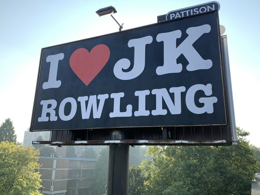 "Billboard ""Kocham J.K. Rowling"""