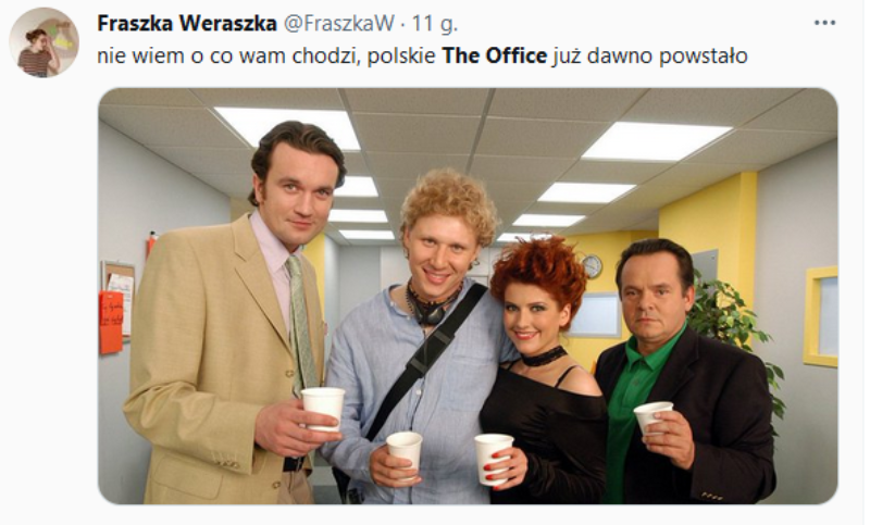 """Wpis inspirowany informacją o polskiej wersji serialu """"The Office""""/""""Biuro"""""""