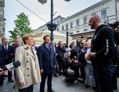 """Trzaskowski spotkał Gortata podczas wizyty w Łodzi. """"Jak zwykle rewelacja"""""""
