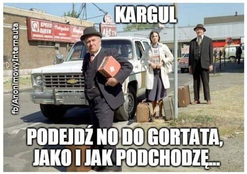 Mem komentujący spotkanie z Marcinem Gortatem