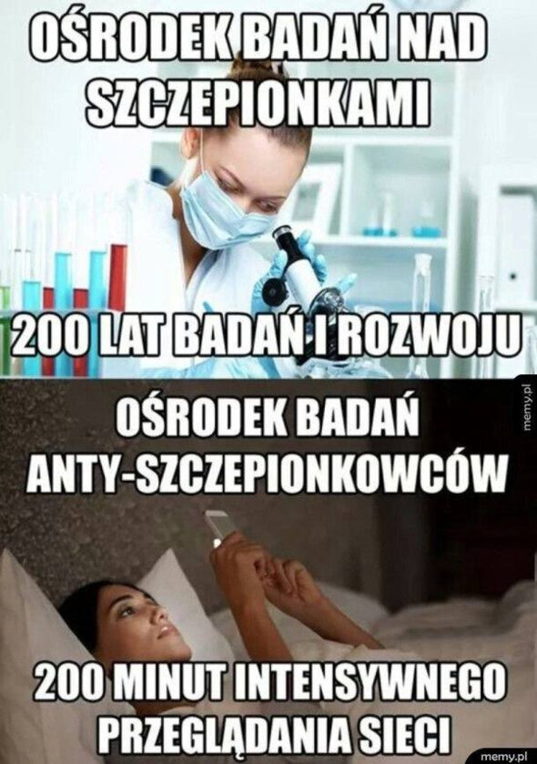 Memy o antyszczepionkowcach
