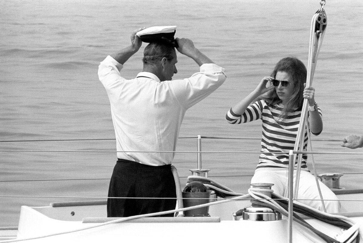 Książę Filip z księżniczką Anną w 1970 roku