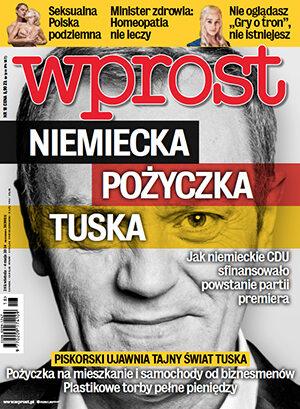 Okładka tygodnika Wprost nr 18/2014 (1626)