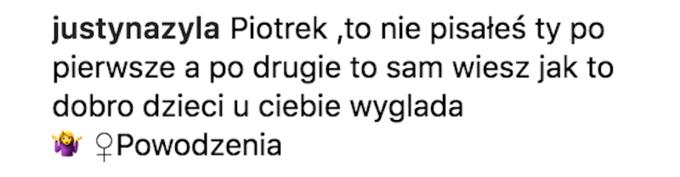 Komentarz Justyny Żyły