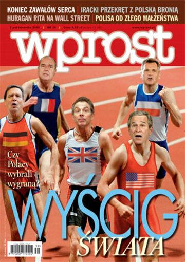 Okładka tygodnika Wprost nr 39/2005 (1191)