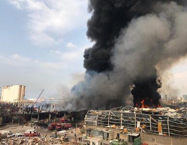 Bejrut: Ogromny pożar w porcie, w którym niedawno doszło do eksplozji