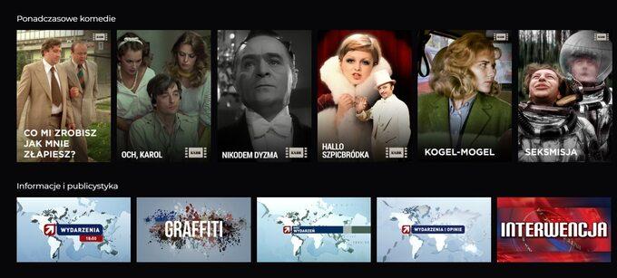 Polsat Go ofrece más de 100 canales de televisión, deportes, películas, series, entretenimiento, información y animación.