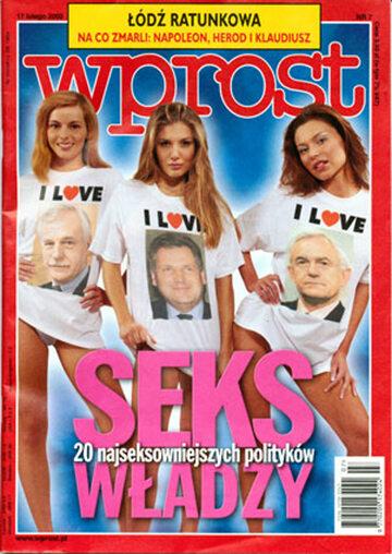 Okładka tygodnika Wprost nr 7/2002 (1003)