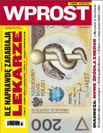 Okładka tygodnika Wprost nr 37/2009 (1390)