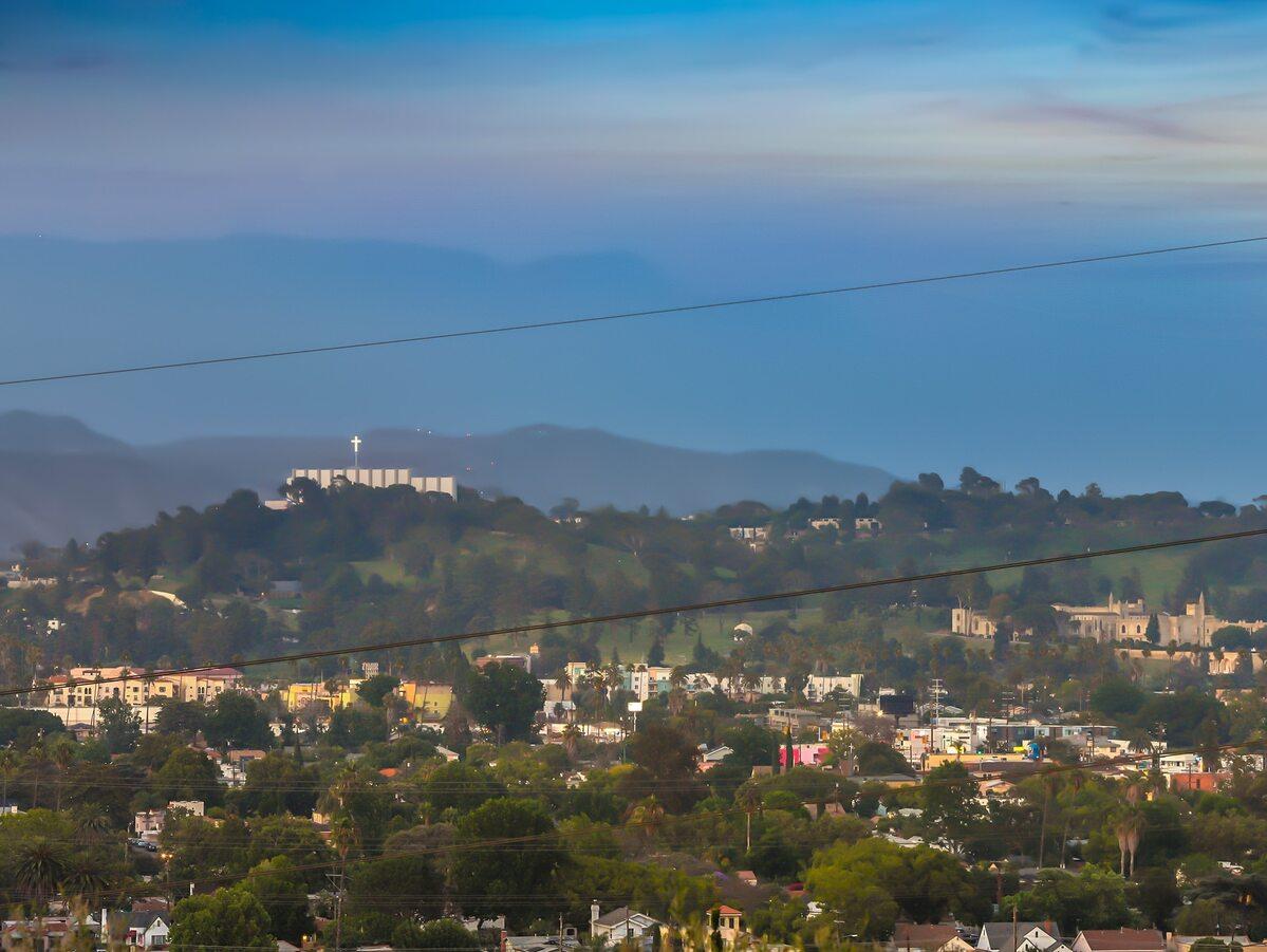 Widok z domu w Los Feliz przy 3311 Waverly Drive