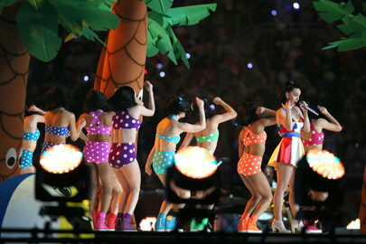 Katy Perry podczas Super Bowl 2015