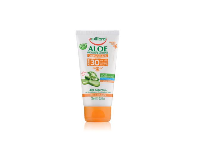Aloesowy krem przeciwsłoneczny SPF 30 UVA, UVB 75 ml Equilibra