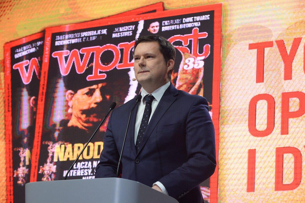 """Redaktor naczelny tygodnika """"Wprost"""" Jacek Pochłopień"""