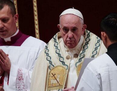 """Papież Franciszek przeprosił, że stracił cierpliwość. """"Dałem zły przykład"""""""