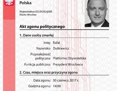 """Skandaliczna akcja Młodzieży Wszechpolskiej. """"Akty zgonu politycznego..."""