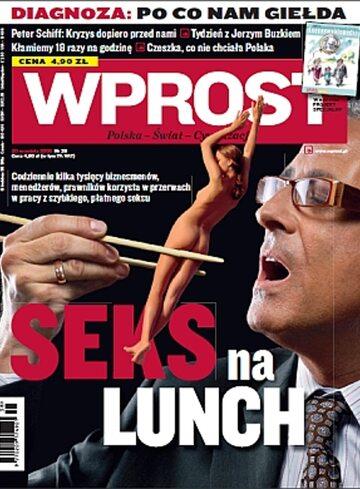 Okładka tygodnika WPROST: 38/2009