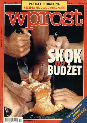 Okładka tygodnika Wprost nr 37/1999 (876)