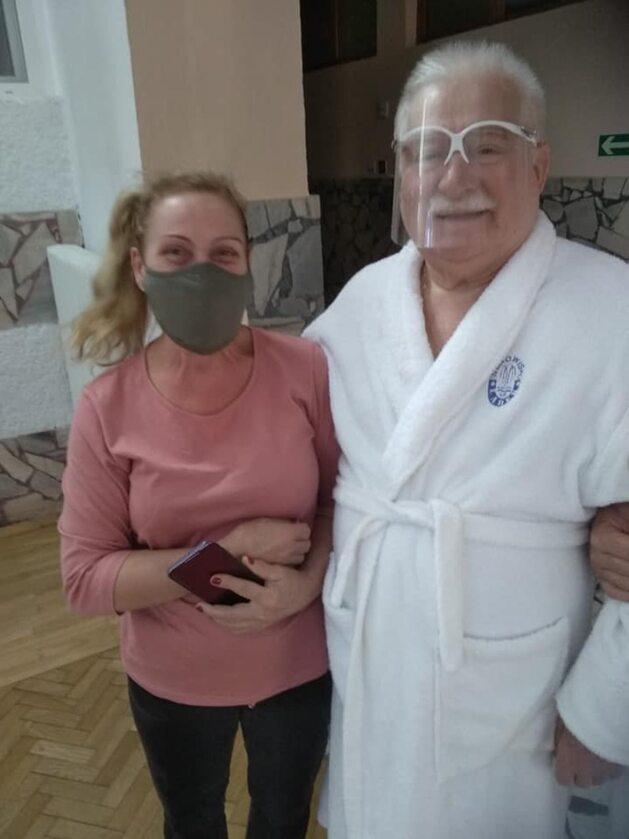 Lech Wałęsa w sanatorium