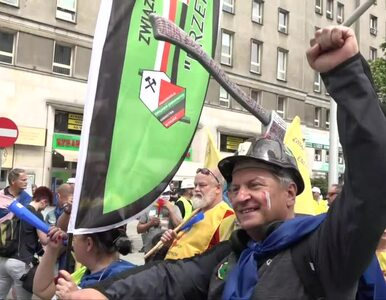 Protest górników i energetyków w Warszawie. Związkowcy napisali list do...