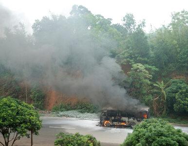 Autobus pełen studentów stanął w ogniu. Spłonęły 22 osoby
