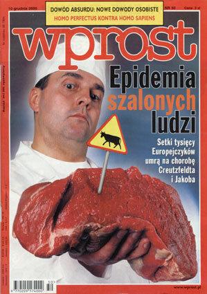 Okładka tygodnika Wprost nr 50/2000 (941)