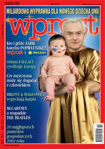 Okładka tygodnika Wprost nr 51/52/2002 (1047)