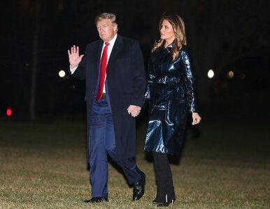 Melania Trump w skórzanym, błyszczącym płaszczu. Jest warty fortunę