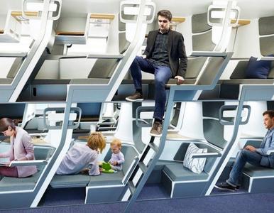 Leżące miejsca w klasie ekonomicznej? Wynaleziono… piętrowe rzędy foteli