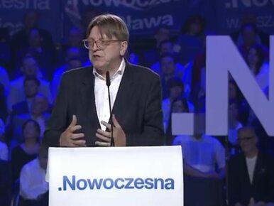 Verhofstadt na konwencji Nowoczesnej: Rząd Kaczyńskiego zrobił wszystko,...