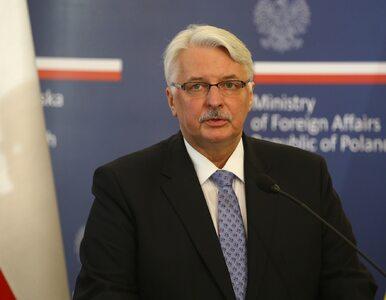 Waszczykowski: Czujemy się oszukani przez Komisję Wenecką. Jej raport...