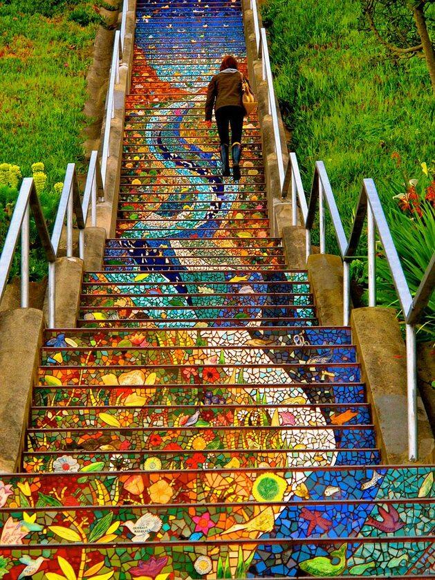 16th Avenue Tiled Steps, San Francisco (fot. yellofish.tumblr.com)
