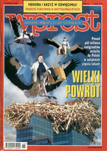 Okładka tygodnika Wprost nr 15/2000 (906)