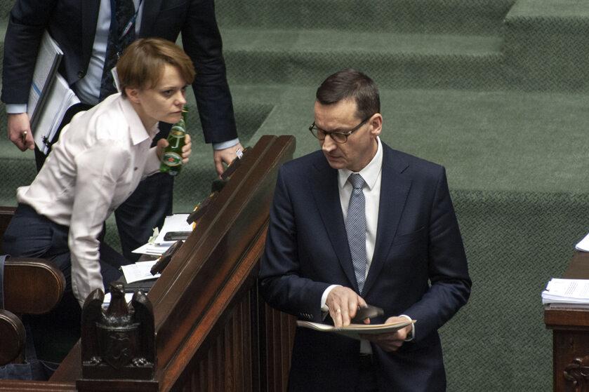 Jadwiga Emilewicz i Mateusz Morawiecki