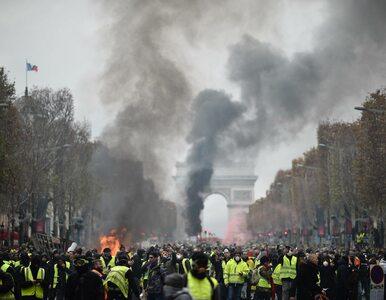 """""""Żółte kamizelki"""" demonstrują w Paryżu. Policja użyła gazu łzawiącego"""
