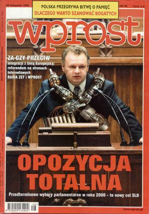 Okładka tygodnika Wprost nr 48/1999 (887)