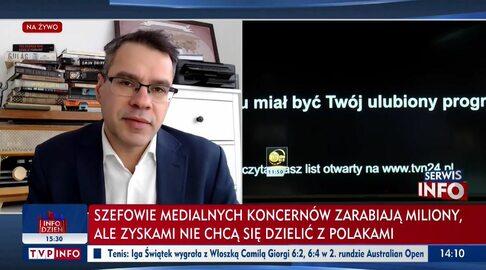 """Paski TVP Info i """"Wiadomości"""" w trakcie protestu mediów"""