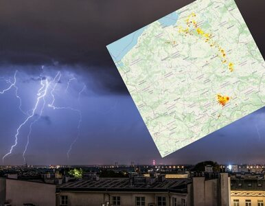 Łuk burzowy z lokalnymi ulewami. Nawałnice przesuwają się nad Polską