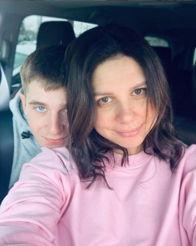 Marina Balmasheva z partnerem