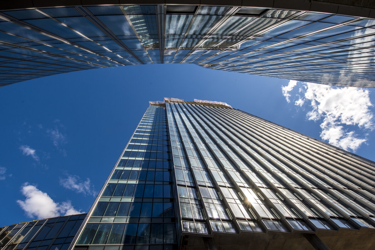 Mennica Legacy Tower w budowie Postępy na budowie Mennica Legacy Tower